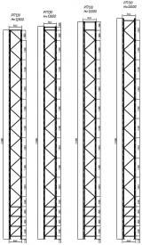 Стеллаж паллетный фронтальный (рама РП130, высота стеллажа - 12800 мм)