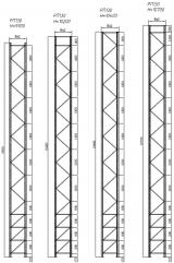 Стеллаж паллетный фронтальный (рама РП130, высота стеллажа - 10200 мм)