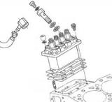 Топливный насос высокого давления (ТНВД) Kubota V1505 для Shindaiwa DGW500DM/RU